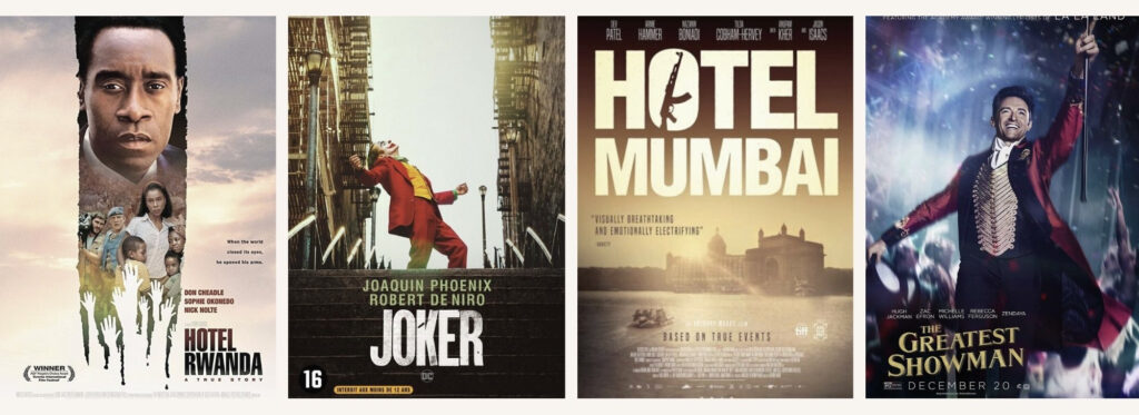 Vier filmposters